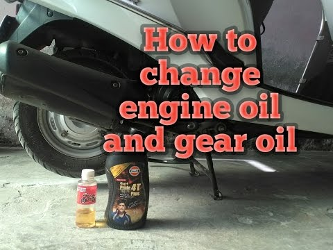 How to change gear oil and engine oil | honda aviator
