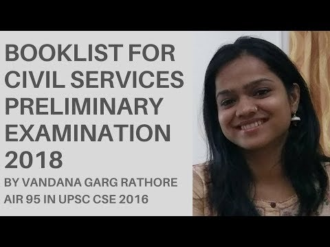 Booklist for Civil Services Preliminary Exam 2018 By CSE Topper AIR 95 Vandana Garg Rathore