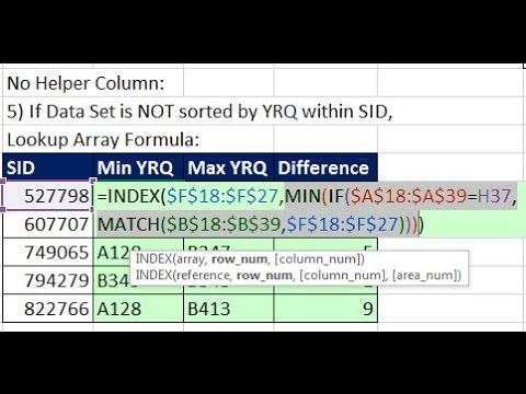 Excel Magic Trick 1325: MIN & MAX Functions For Alphanumeric / Text Values Report (8 Examples)