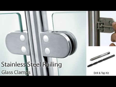 Stainless Steel Railing - How to install Glass Clamps