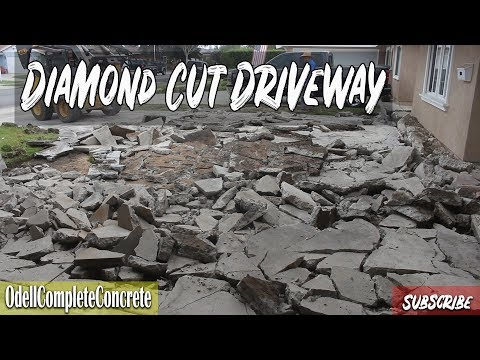 How to Replace & Pour a Concrete Driveway (Diamond Cut Pattern!)