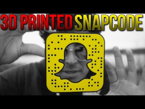 HOW TO GET A 3D PRINTED SNAPCODE! - GIVEAWAY TIME 👻