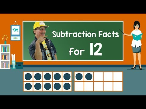 Practice Our Subtraction Facts for 12 | Subtraction Song | Math Song for Kids | Jack Hartmann