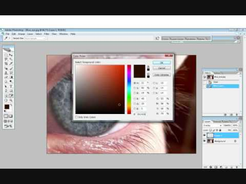 How to change eye color in Photoshop ( cs2 ) EASY !