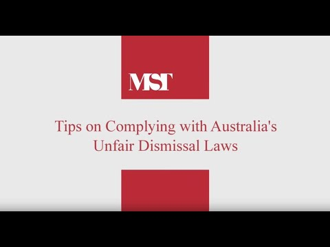 10 Tips on Complying with Unfair Dismissal Laws