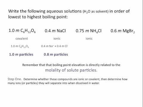 Colligative Properties: Boiling Point Elevation - Chemistry Tutorial
