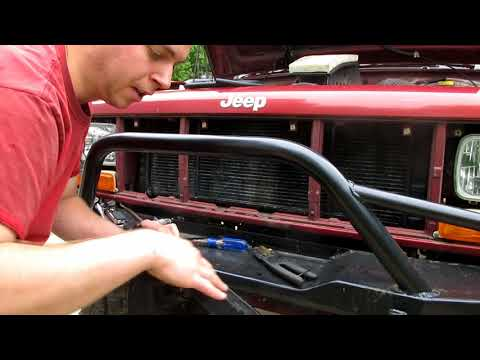 XJ With Wagoneer 44s: Part 16 XJ Transmission Cooler