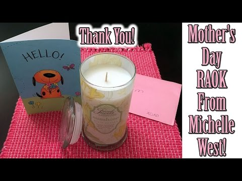 My Mother's Day RAOK from Michelle West - Secret Jewels Candles Review & Reveal!