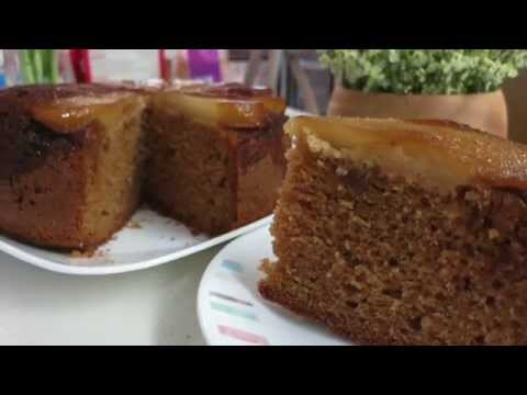 Upside-Down Ginger and Pear Cake