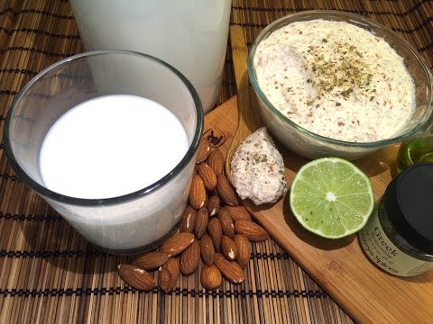 Make your own almond milk & almond cream cheese