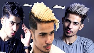 BEST Hair Transformation Video For Men | From Black Hair to Blonde to Ash Grey Hair Men