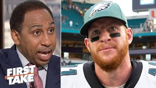 Carson Wentz is asked to do more than Nick Foles ever was - Stephen A. | First Take