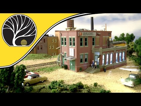 Clyde & Dale's Barrel Factory – N & HO Scales | Built-&-Ready® | Woodland Scenics | Model Scenery