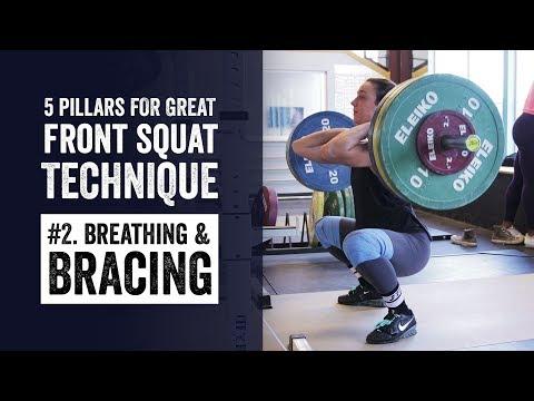 Front Squat Pillar #2   Breathing & Bracing   JTSstrength.com