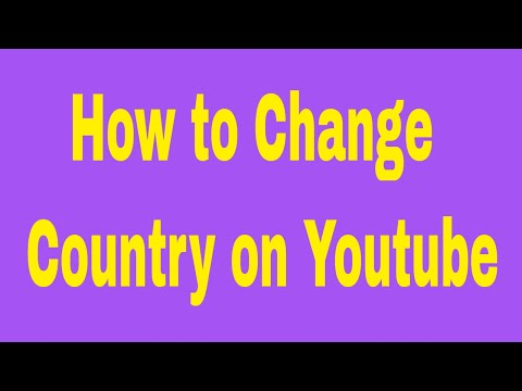 How to Change your Country on Youtube # Contact: 01764608434