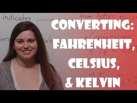 Converting Fahrenheit, Celsius, & Kelvin