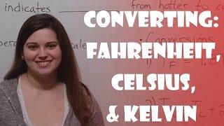 Converting Fahrenheit Celsius Kelvin