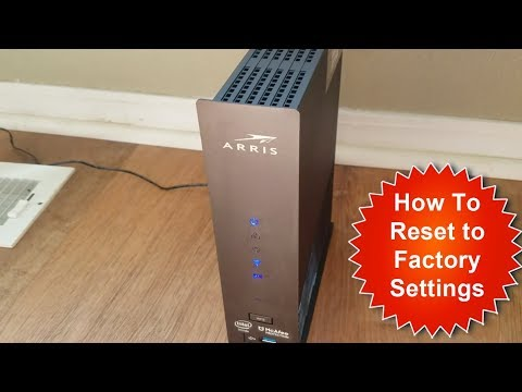 How to Reset ARRIS Surfboard to Factory Settings