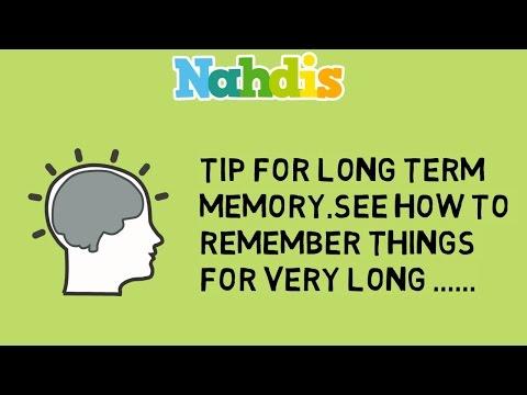 Tip For Long Term Memory