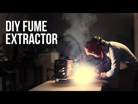 Umbrella + Vacuum cleaner: DIY Fume Extractor