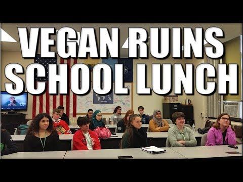 Vegan Ruins School Lunch