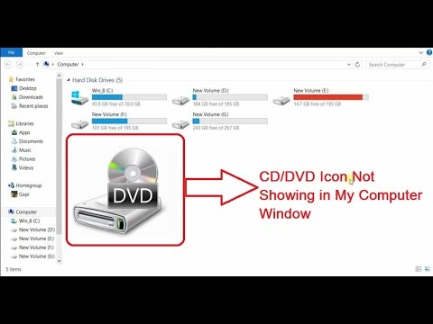 How to Fix CD/DVD Icon Not Showing in My Computer Window