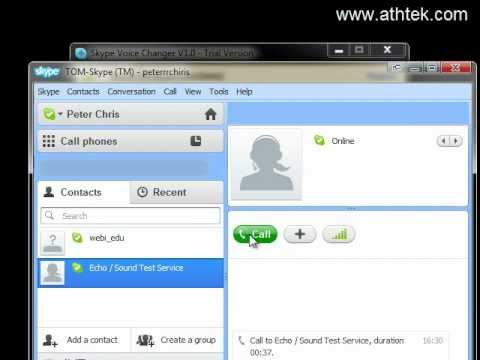 How to change the voice pitch in a Skype call
