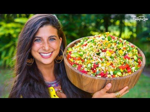 Epic FullyRaw Mexican Sweet Corn Salad!