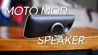 Motorola Stereo Speaker Moto Mod hands-on
