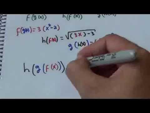 Matemática Básica - Funcion dentro de una Funcion. F(G(H(x)))