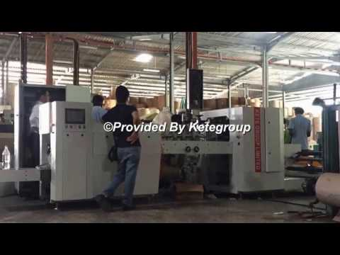 KTPM-A1 flat bottom food paper bag machine Working in Malaysia client's factory