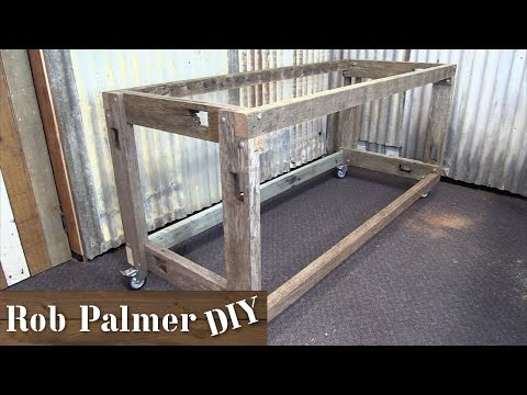 How To Build a Work Bench from Old Timber   DIY Build