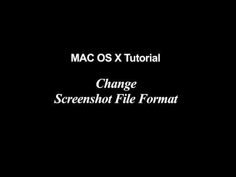 Mac OS X Tutorial | Change Screenshot File Format