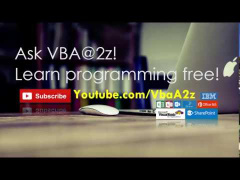 Ask your questions to #VBAA2Z. Please post your questions + comments to discussion tab.