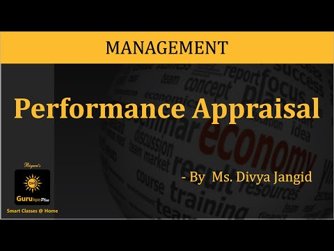 Performance Appraisal (BBA, MBA) Lecture by Divya Jangid.