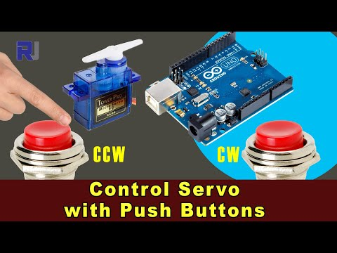 Control Servo motor with push button with Arduino