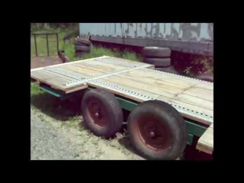converting Winnebago camper from the 70's into 4500 max gvw flatbed utility trailer short version