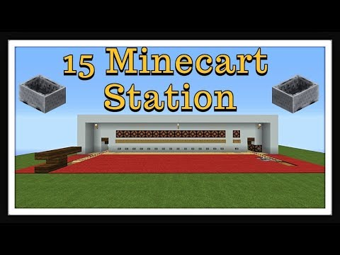 Minecraft Tutorial : 15 Minecart Station