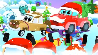 We Wish You A Merry Christmas | Christmas Nursery Rhymes for Children | Vehicles Christmas Song