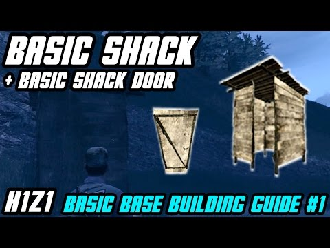 How To Craft BASIC SHACK And DOOR || Basic Base Building #1 // H1Z1
