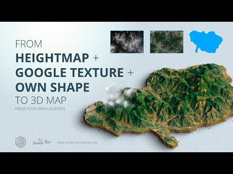 How to get a 3D Terrain from Google Maps with own shape - 3D Map Generator