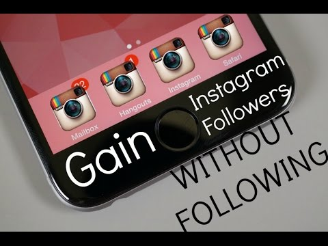 Gain Instagram Followers WITHOUT Following Anyone! (2016)