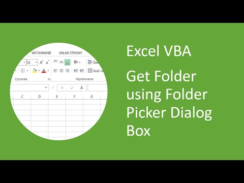 Excel VBA - How to Get Folder using Folder Picker Dialog Box