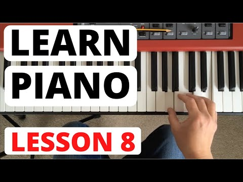 Piano for Beginners, Lesson 8 || A new piece, phrase marks and ritenuto