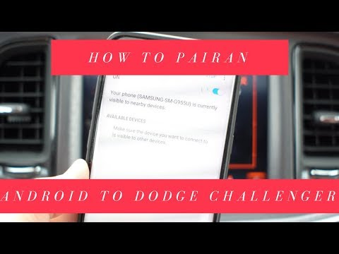 How to Pair an Android Phone to the Dodge Challenger