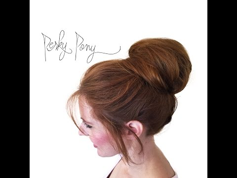How to Fake Hair Extensions in your Bun with Perky Pony