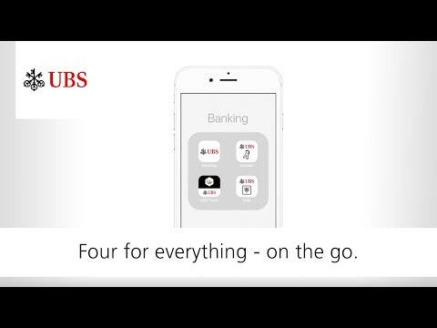UBS Digital Banking. Four apps for everything.