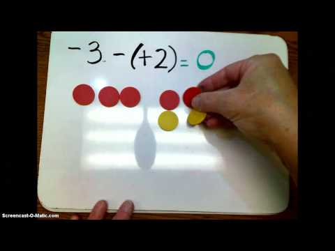 Subtracting with integer chips