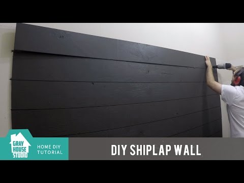 Shiplap Wall DIY