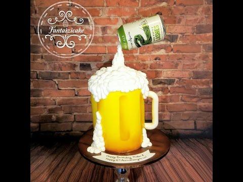 Gravity beer cake by Fantaizicake